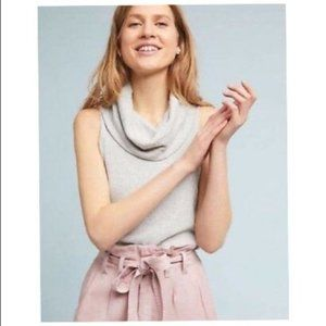Anthropologie Merian Cowl Neck Ribbed Top Size XS
